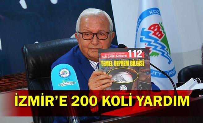 İZMİR'E 200 KOLİ YARDIM