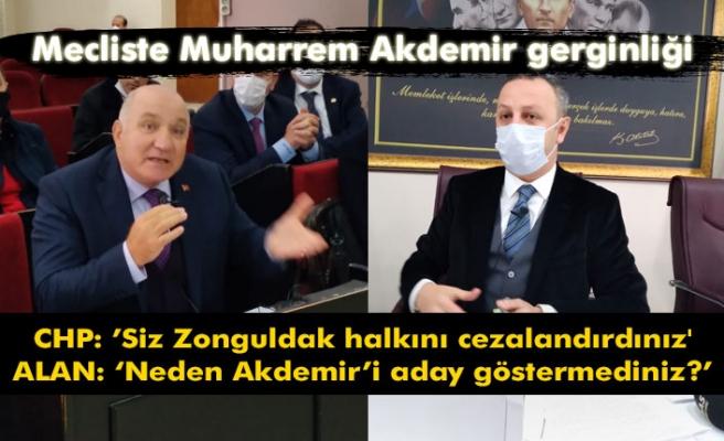 Mecliste Muharrem Akdemir gerginliği