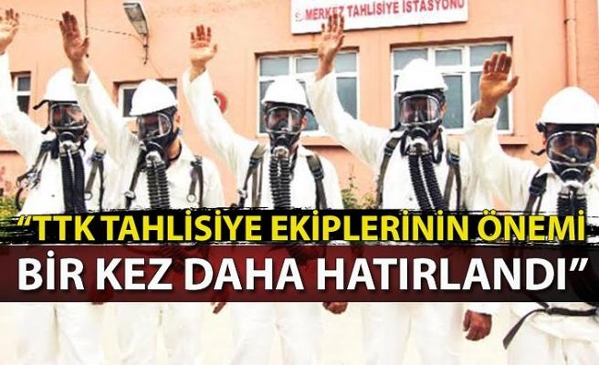 """""""TTK Tahlisiye ekiplerinin önemi bir kez daha hatırlandı"""""""