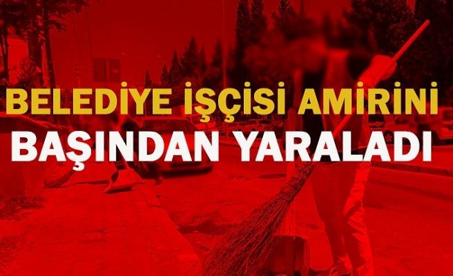 Zonguldak'ın Çaycuma ilçesinde işten çıkarılan belediye işçisi amirini başından yaraladı.