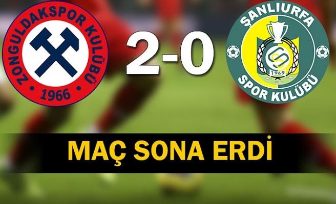 Zonguldak Kömürspor - Şanlıurfaspor maçı 2-0 bitti.