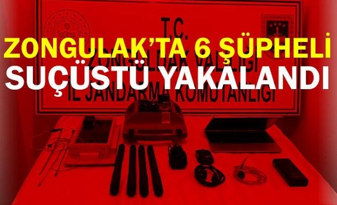 Zonguldak'ta 6 şüpheli suçüstü yakalandı