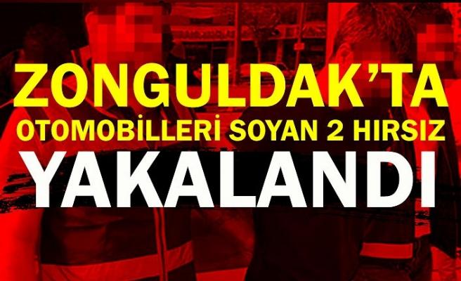Zonguldak'ta otomobilleri soyan 2 hırsız yakalandı
