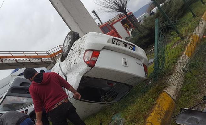 Araç takla attı... 1 kişi öldü...