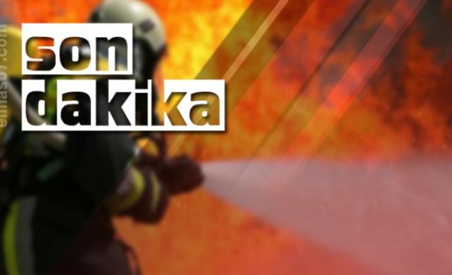 Çay ocağında yangın... 2 kişi hastaneye kaldırıldı...