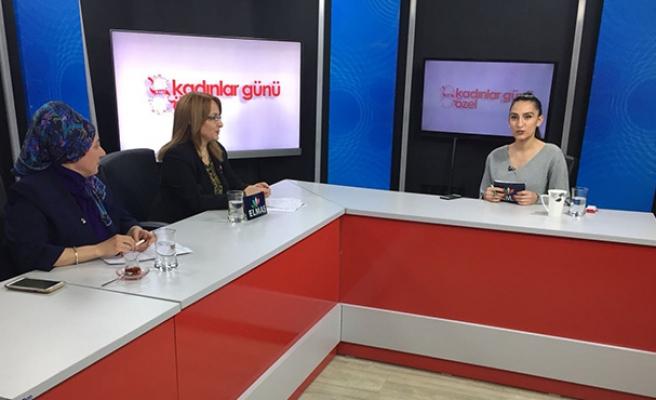 8 Mart Dünya Kadınlar Günü'nde Elmas TV'nin konuğu oldular...