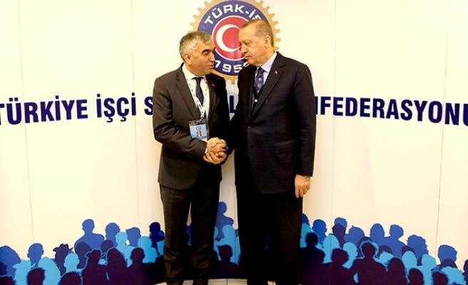Cumhurbaşkanı Erdoğan'la buluştu...