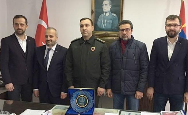 MÜSİAD'dan Jandarma Komutanına ziyaret…