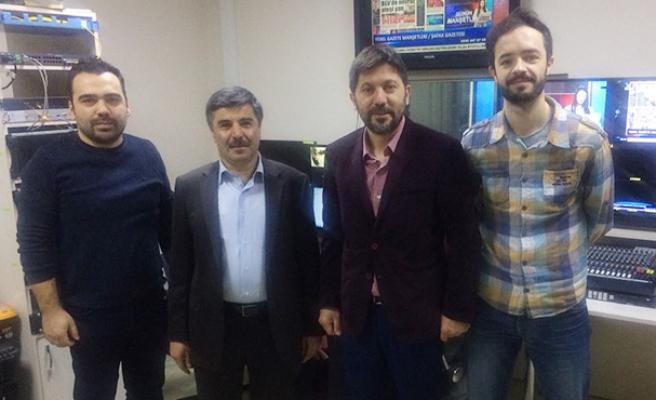 Turgut Özbek'ten Elmas TV'ye veda ziyareti…