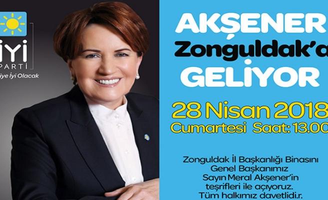 Meral Akşener Zonguldak'a geliyor..
