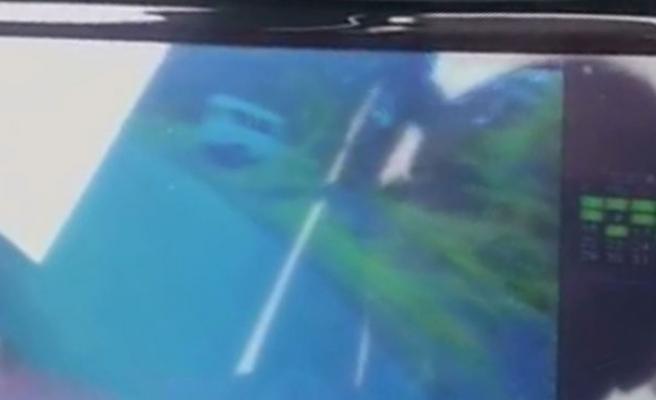 İşçileri taşıyan minibüs böyle uçtu
