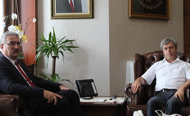 Erdemir Genel Müdürü'nden, Vali Çınar'a ziyaret