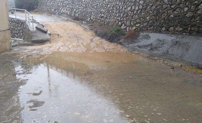 Burası okul önü... Yağdı yağmur çaktı şimşek!