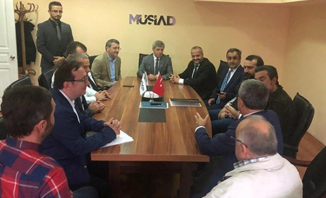 Vali Ahmet Çınar'da MÜSİAD'a ziyaret