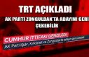 TRT açıkladı! Ak Parti Zonguldak'ta adayını...