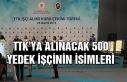 TTK'ya alınacak 500 yedek işçinin isimleri