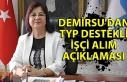 Demirsu'dan TYP destekli işçi alım açıklaması
