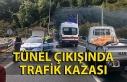 Tünel çıkışında trafik kazası