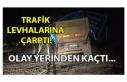 TRAFİK LEVHALARINA ÇARPTI! OLAY YERİNDEN KAÇTI...
