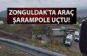 Zonguldak'ta araç şarampole uçtu!