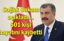 Sağlık Bakanı açıkladı... 501 kişi hayatını...