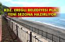 Kdz. Ereğli Belediyesi plajı yeni sezona hazırlıyor
