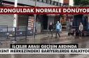 Zonguldak normale dönüyor. İlçeler arası geçişin...