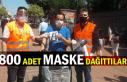 800 adet maske dağıttılar