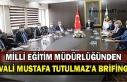 Milli Eğitim Müdürlüğünden Vali Mustafa Tutulmaz'a...