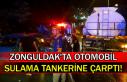 Zonguldak'ta otomobil sulama tankerine çarptı!