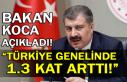 Bakan Koca açıkladı! Türkiye genelinde 1.3 kat...