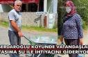 Serdaroğlu köyünde vatandaşlar taşıma su ile...