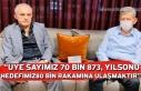 """""""ÜYE SAYIMIZ 70 BİN 873, YILSONU HEDEFİMİZ80..."""
