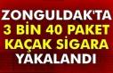 Zonguldak'ta 3 bin 40 paket kaçak sigara yakalandı