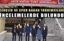 Gençlik ve Spor Bakan Yardımcıları incelemelerde...