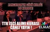 Zonguldak'ın gözü kulağı bu kurada! TTK işçi alımı kura çekimi Elmas TV'den CANLI
