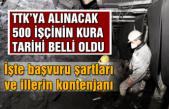 TTK'ya alınacak 500 işçinin kura tarihi belli oldu! İşte başvuru şartları ve illerin kontenjanı...