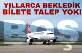 Zonguldak'tan havalanacak uçak boş