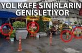 Yöresel ürün dükkanları yolu kapatıp kafe oldu