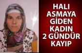 Halı asmaya giden kadın 2 gündür kayıp