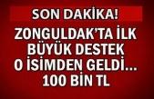 Zonguldak ta ilk büyük destek o isimden geldi... 100 bin TL