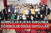 Gürbüzler Kur'an Kursunda öğrenciler ödüle doydular