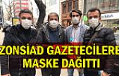 ZONSİAD gazetecilere maske dağıttı