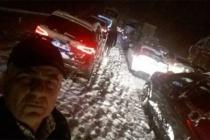 Ankara yolunda perişan oldular!