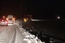 Ereğli yolunda kar eserati... Araçlar yolda kaldı