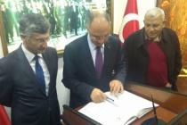 Filistin Büyükelçisi'nden Vali Bektaş'a ziyaret