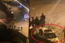 Polis olay yerinde... Önce kaza sonra kavga!