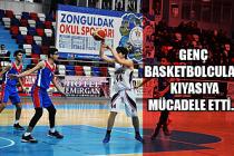Genç Basketbolcular, kıyasıya mücadele etti...