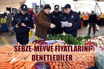 Sebze-meyve fiyatlarını denetlediler...