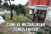 Cami ve mezarlıklar temizleniyor